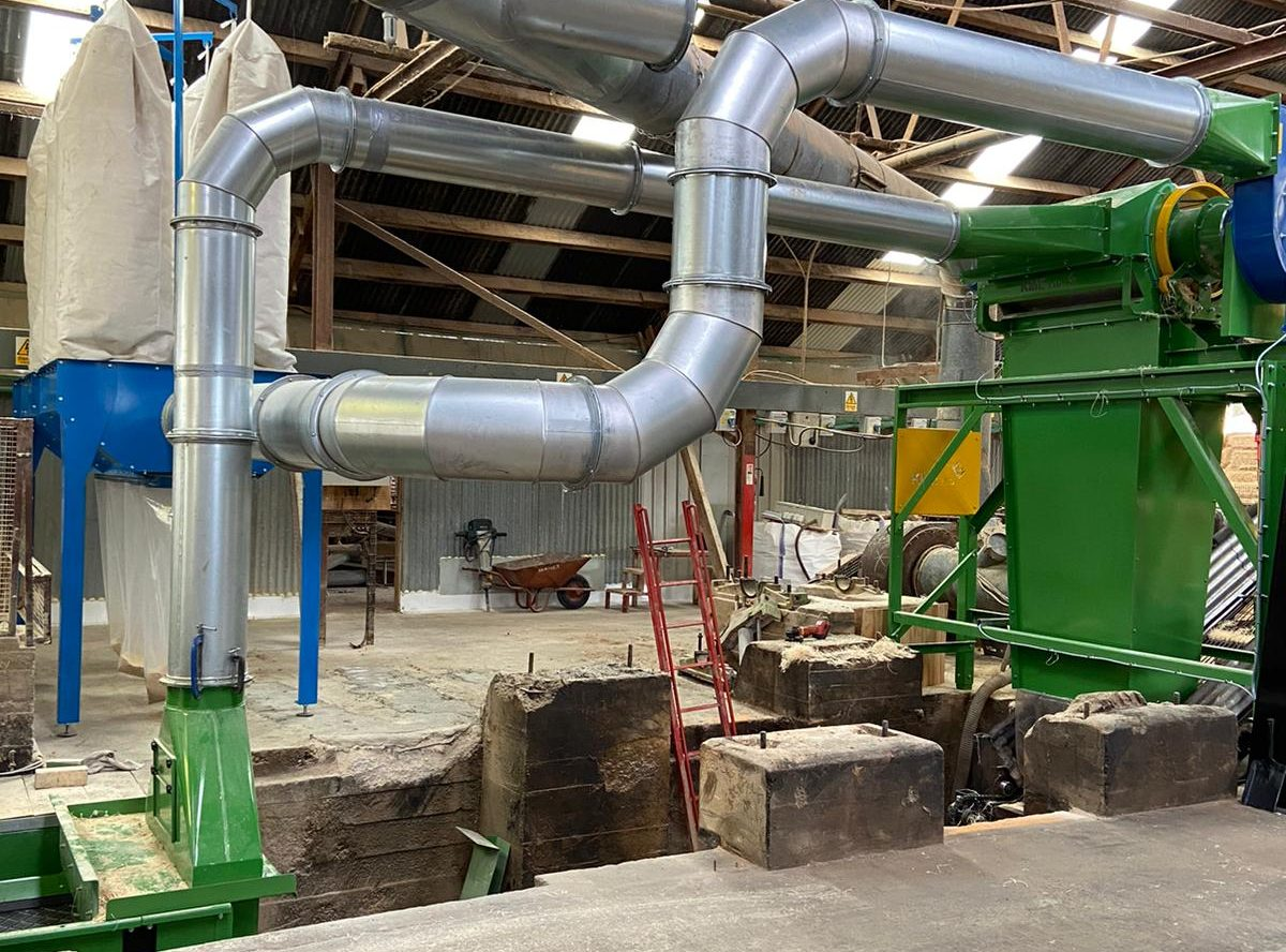 wood wool dust extraction