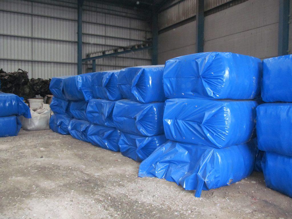 big bag baler for baling RDF
