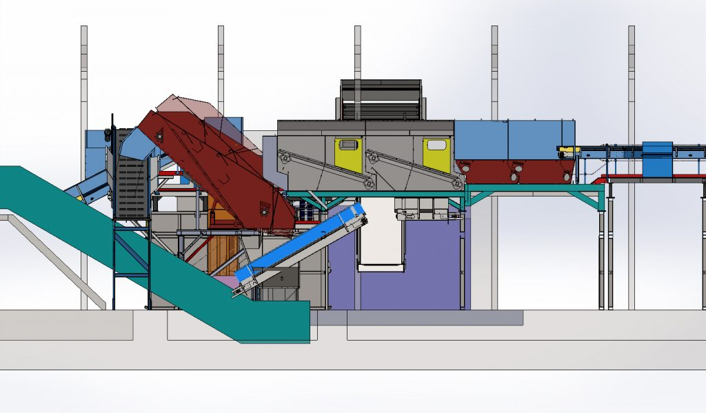 Materials recycling facility drawing / design before commissioning  - MRF